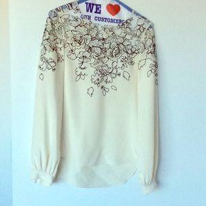 Oscar de la Renta Embroidered blouse size 1 US 2